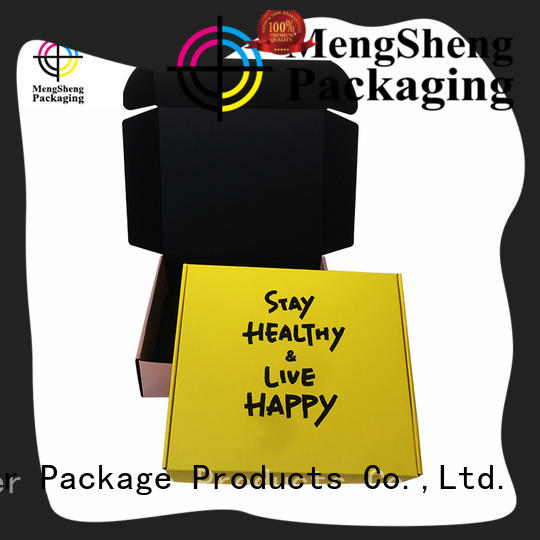 shopping cardboard box printing design with handle Mengsheng