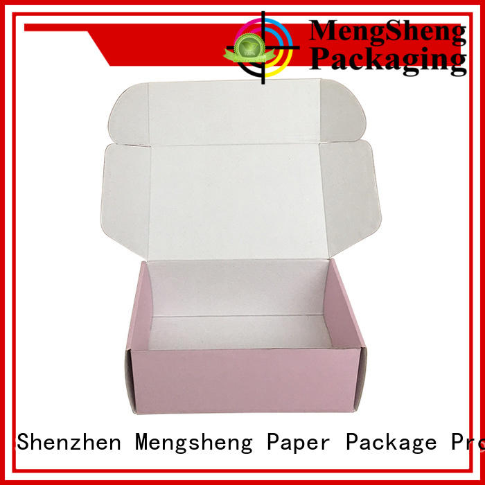 pink colour custom boxes with handle Mengsheng