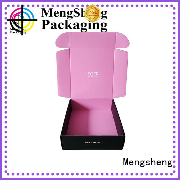 Mengsheng wine bottles branded packaging boxes clothing packing convenient