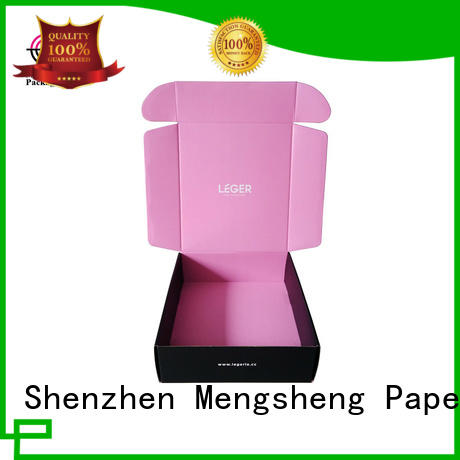 Mengsheng bottle packaging packing boxes pink colour with handle