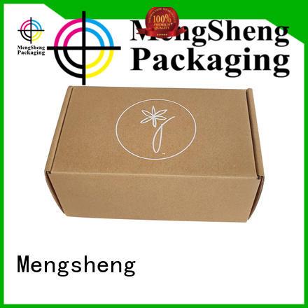Mengsheng wine bottles corrugated carton box clothing packing custom design