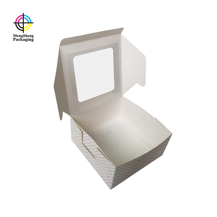 Mengsheng white cheap cake boxes rectangular at discount-3