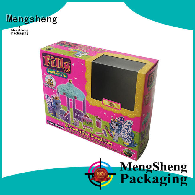 Mengsheng clear window big gift box printing for christmas gift