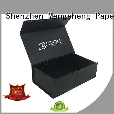 Mengsheng pink colour large birthday gift box free sample with handle