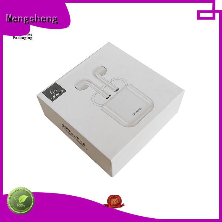 Custom logo printed headphones electronics packaging box lid and base paper box