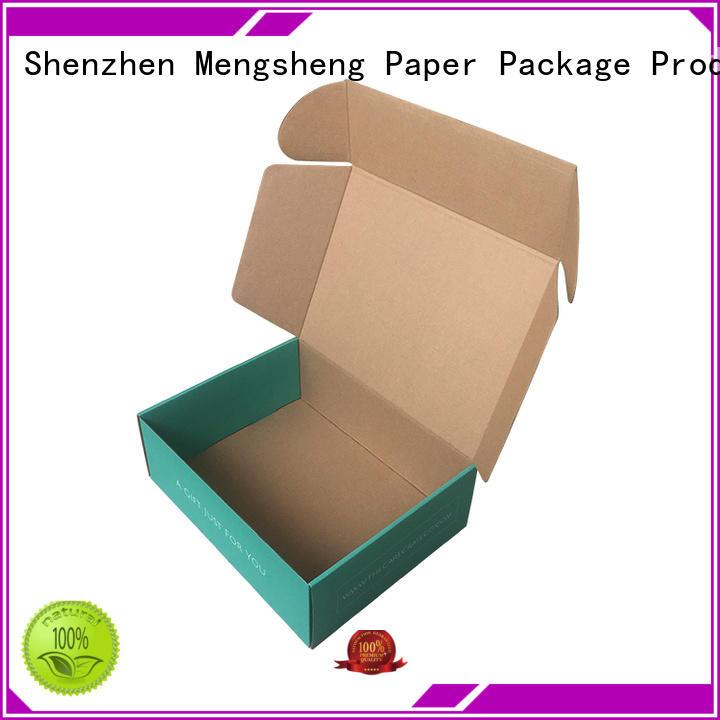 Mengsheng customized custom boxes shopping ectronics packing