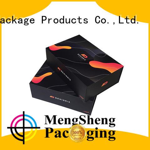Mengsheng latest magnetic gift box pvc inserted clothing shipping