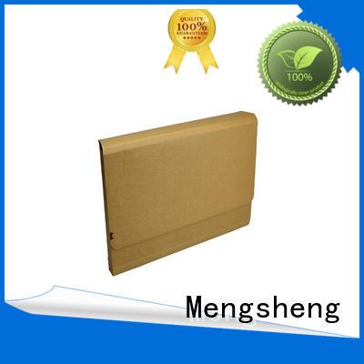 Mengsheng natural kraft paper corrugated box maker printed cardboard convenient