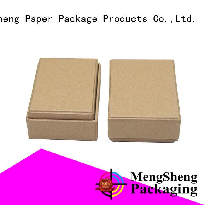 natural kraft paper earring gift box insert double sides custom design