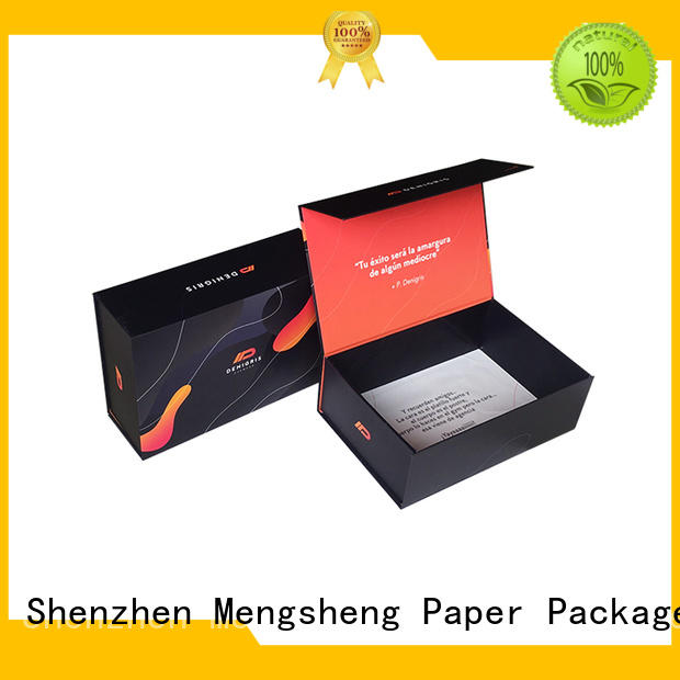 Mengsheng at discount magnetic lid gift box carton printed for christmas gift