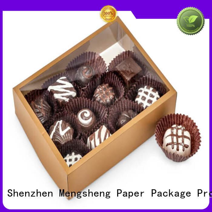 Mengsheng electronics packaging two piece box ribbon design chocolate packing