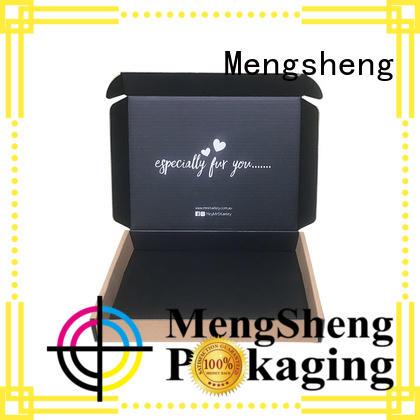 Mengsheng natural kraft paper branded boxes suppliers wine bottles convenient