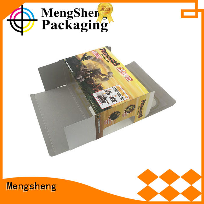 Mengsheng cheapest price toy packaging hot-sale with handles