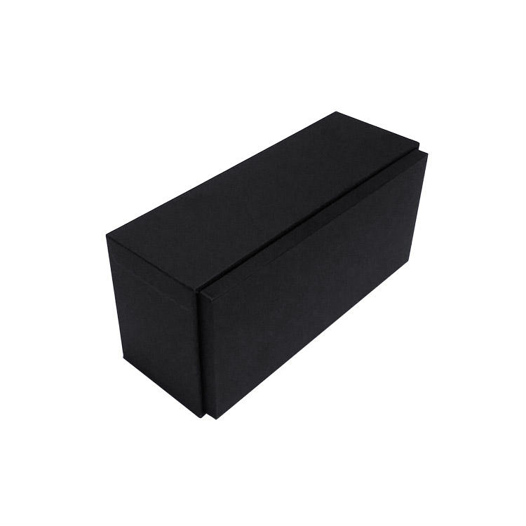 Rigid Rectangular Jewelry Box two piece jewelry gift box - Charcoal Black