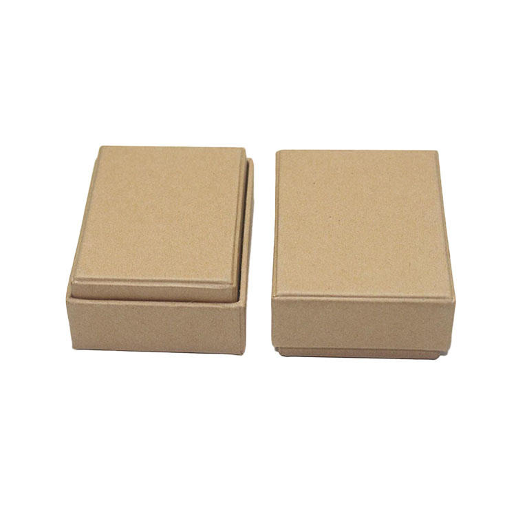 2 Piece Gift Xmas Boxes - Kraft Color Eco-Friendly Cardboard Sturdy