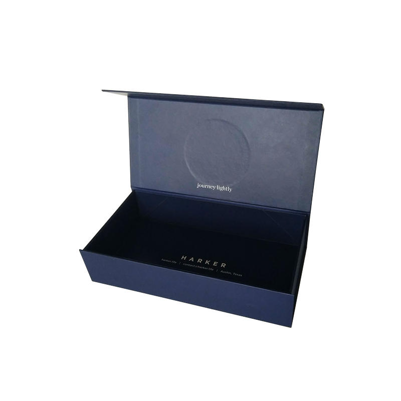 Magnetic Gift Boxes Fold Over Box Matte Black Rigid Cardboard