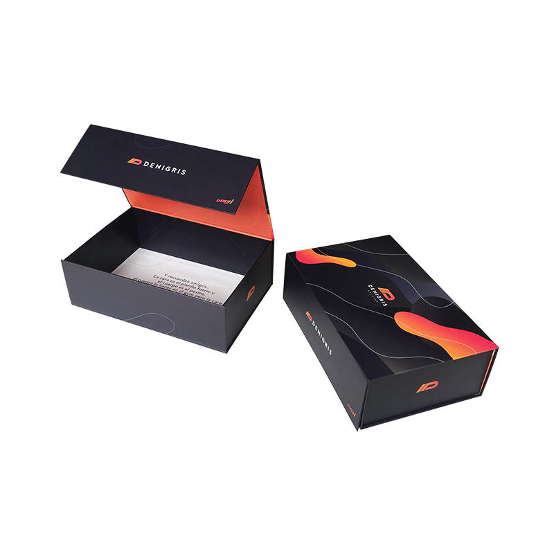 Large Gift Box - Rigid Black Gift Box with Magnetic Closing Lid