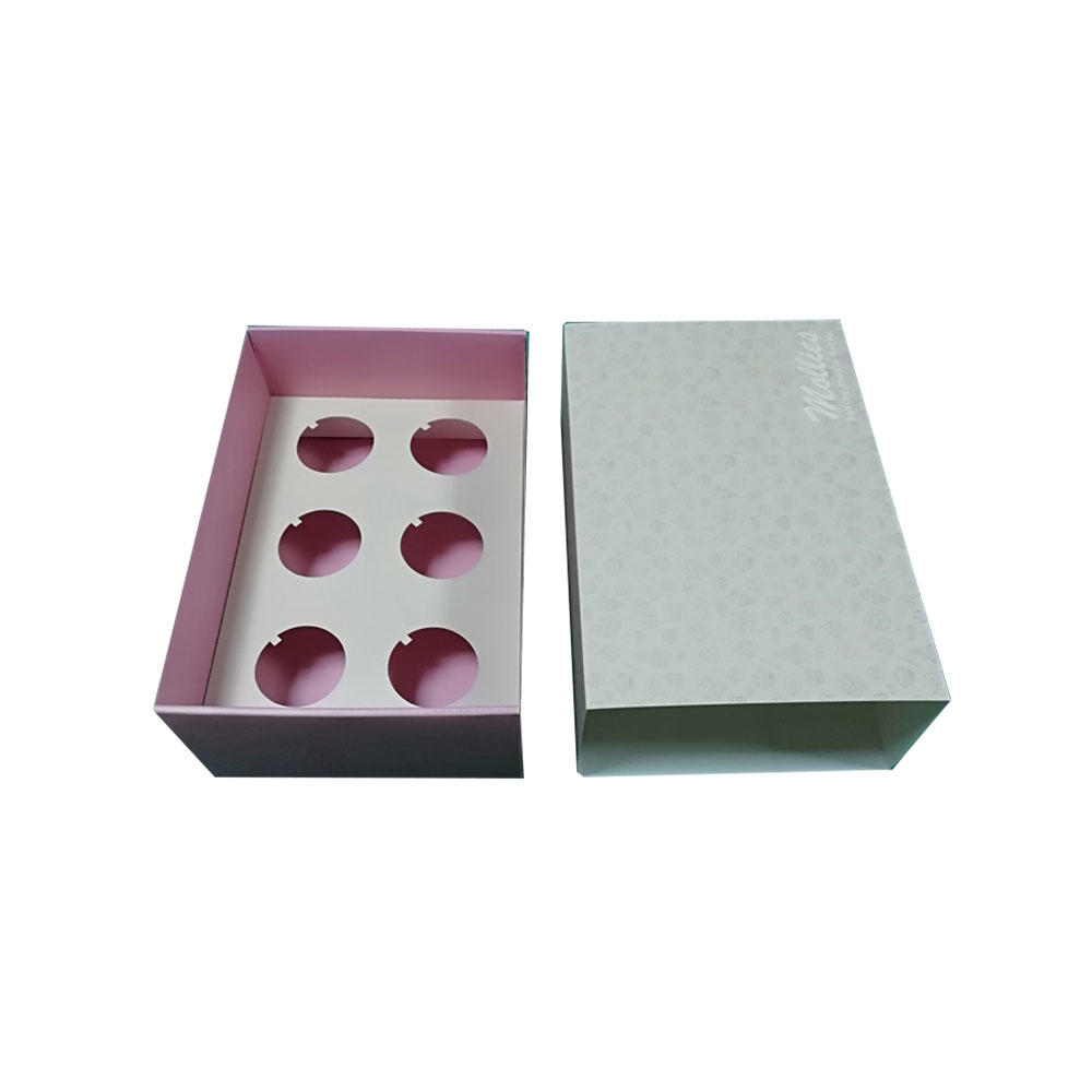 Custom Printed Drawer Style Sleeve Heave Duty Corrugated Cupcake Gift Small Cake Boxes