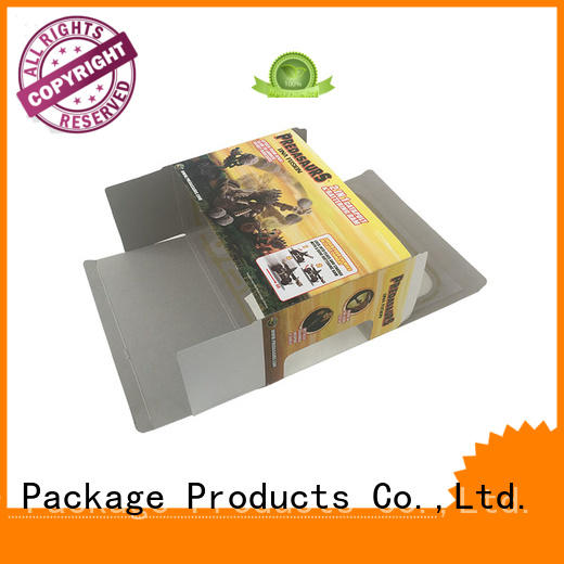 Toy packaging box card paper clear pvc window with insert