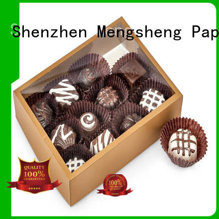 Mengsheng jewelry box of candy natural kraft paper for sale