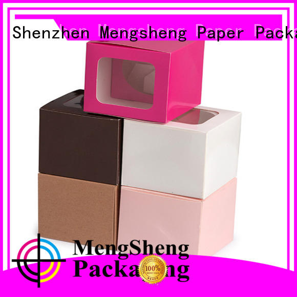 Mengsheng full color single cupcake boxes on top for wholesale