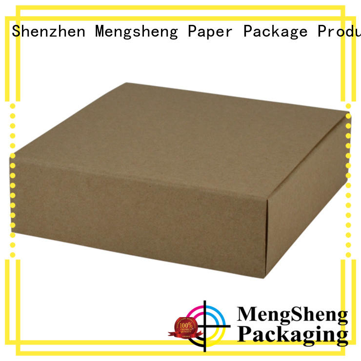 Mengsheng electronics packaging lidded cardboard boxes ribbon design chocolate packing