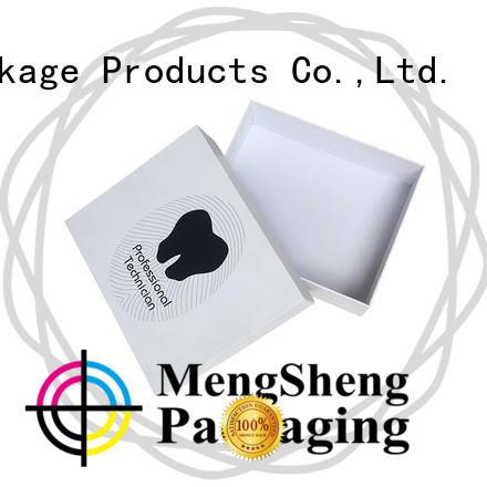 Mengsheng full color gift card box reversible for wholesale