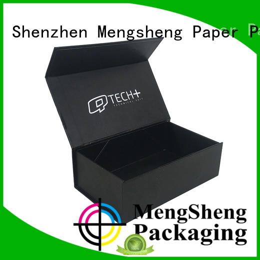 hot-sale small folding gift boxes easy closure garment packing Mengsheng