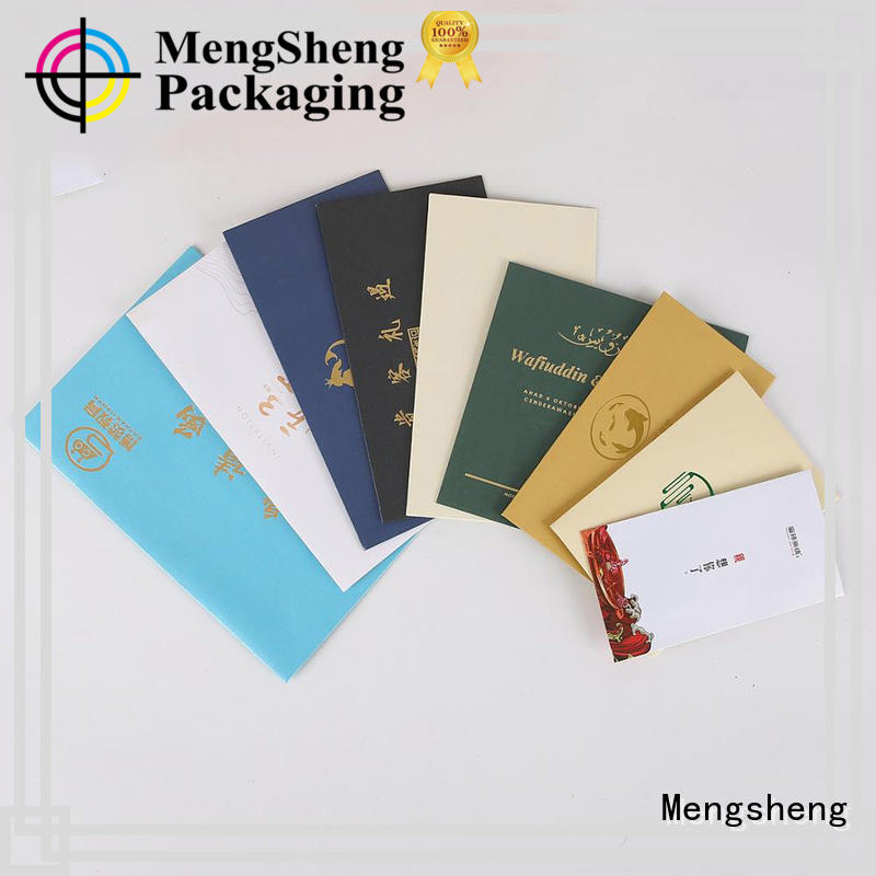 Biodegradable invitation envelopes customized packing services Mengsheng