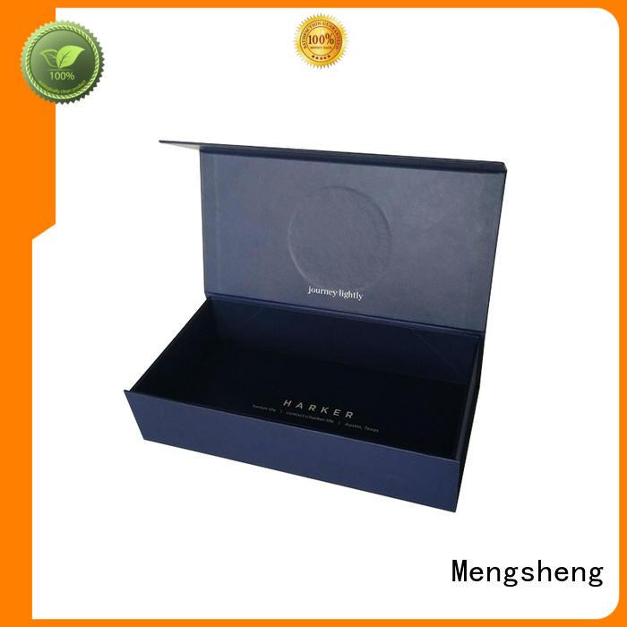 Magnetic Gift Boxes folding matte black rigid cardboard