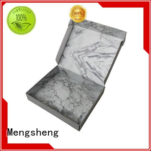 Custom Corrugated Mailer Boxes matte white outside marble inside