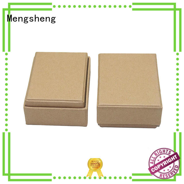 Mengsheng round tube jewelry display box printed cardboard eco friendly