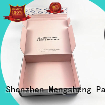Mengsheng round tube packaging brands clothing packing custom design