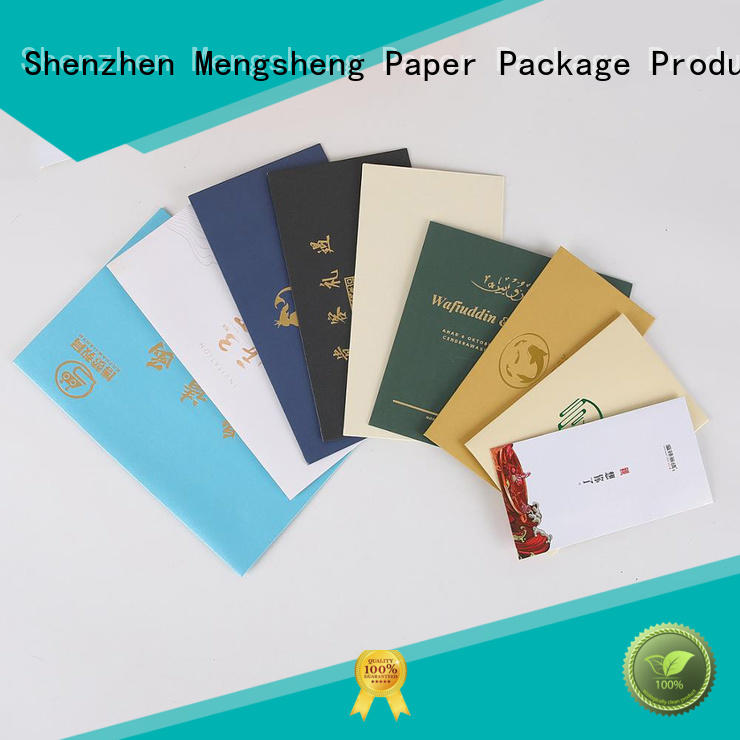 Mengsheng paper letter envelope customized express