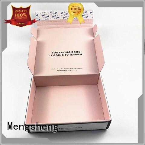 Mengsheng cosmetic packaging gown box free sample with ribbon
