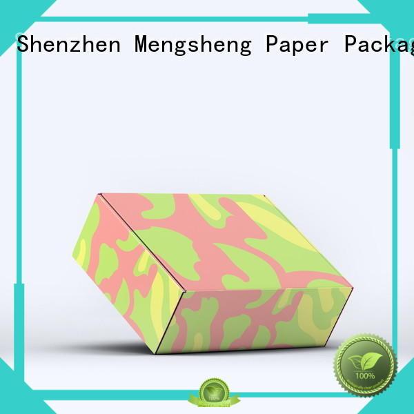 Mengsheng natural kraft paper corrugated box plant double sides convenient