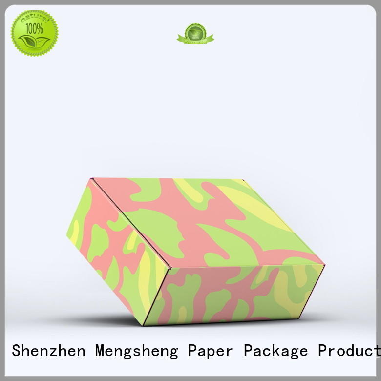 Mengsheng clothing box apparel gift boxes corrugated cardboard with ribbon