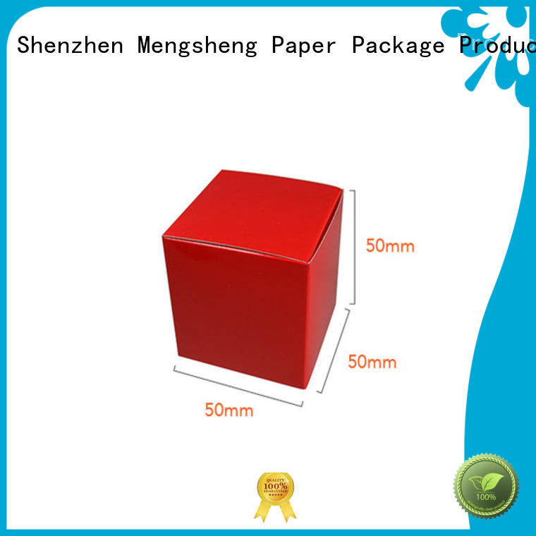 Mengsheng eco-friendly square gift boxes with lids carton printed with lid