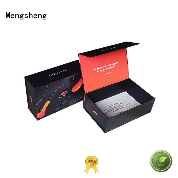 Mengsheng durable folding box packaging shipping clothing for florist