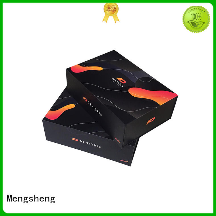 Mengsheng latest red magnetic box printing for christmas gift