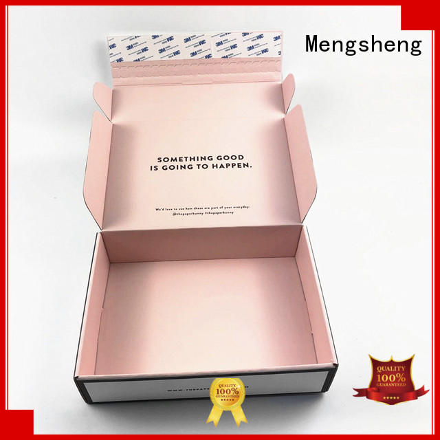 Mengsheng high quality printed shipping boxes strong convenient