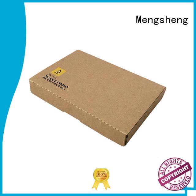 Mengsheng analog cardboard wine box logo printed garment packing