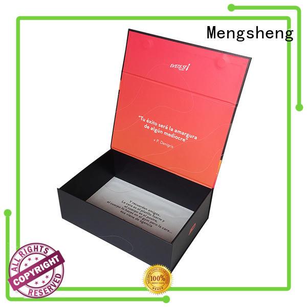Mengsheng wholesale white magnetic box pvc inserted for christmas gift