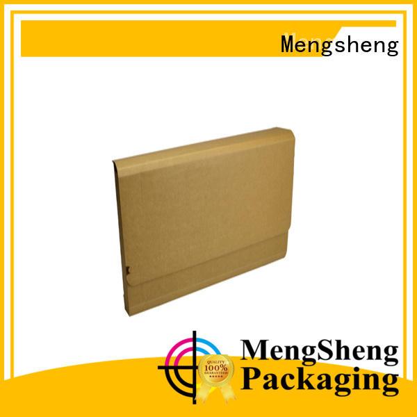 Mengsheng wine bottles custom corrugated clothing packing eco friendly