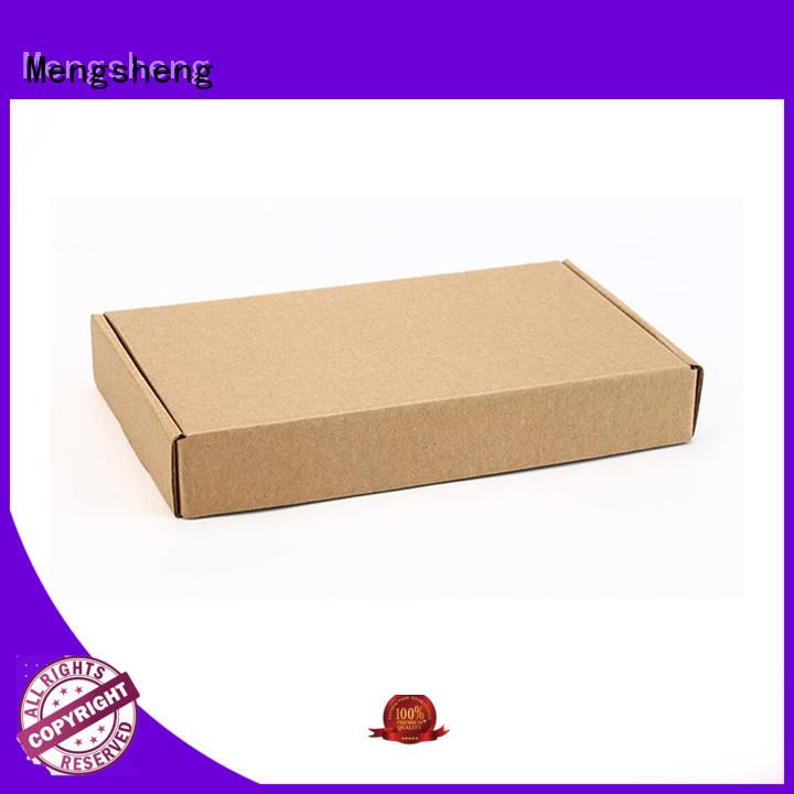 Mengsheng natural kraft paper custom corrugated corrugated custom design
