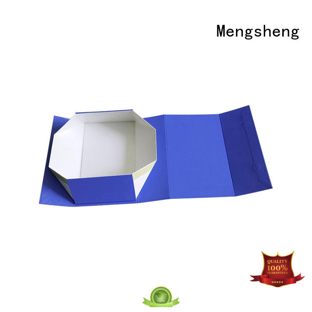 Mengsheng various shapes red magnetic box folding design clothing shipping