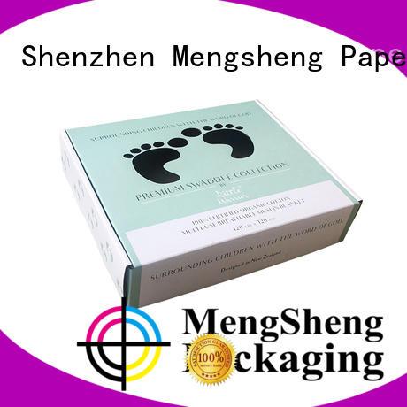 Mengsheng natural kraft paper custom corrugated clothing packing convenient