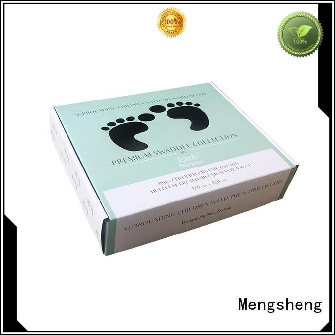 Mengsheng free sample decorative gift boxes printing clothing shipping