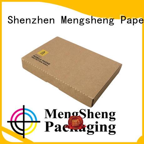 Mengsheng shipping tuck top boxes custom design