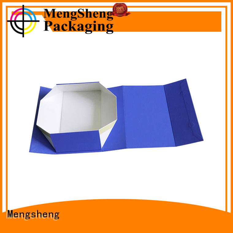 Mengsheng foldable fold over box easy closure swimwear packing